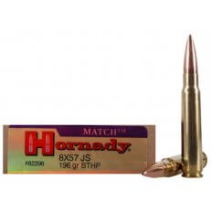 Hornady Vintage Match 8x57mm JS Mauser 196 Gr. Boat Tail Hollow Point- Box of 20