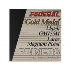 Federal Premium Gold Medal Large Pistol Magnum Match Primers #155M- Box of 1000 (HAZMAT Fee Required)