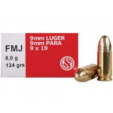 Sellier & Bellot 9mm Luger 124 Gr. Full Metal Jacket SB9B