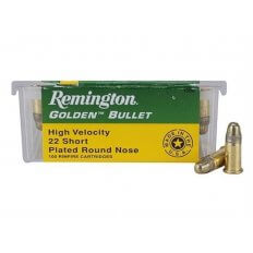 Remington High Velocity .22 Short 29 Gr. Plated Lead Round Nose-  Box of 100
