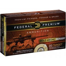 Federal Premium Gold Medal Berger 6mm Creedmoor 105 Gr. Berger Hybrid Hollow Point Boat Tail GM6CRDBH1