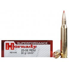 Hornady SUPERFORMANCE GMX .25-06 Remington 90 Gr. GMX Boat Tail- Lead-Free- Box of 20