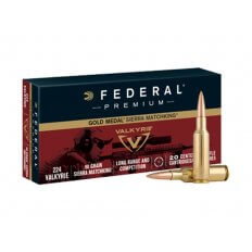 Federal Premium Gold Medal .224 Valkyrie 90 Gr. Sierra MatchKing Hollow Point Boat Tail GM224VLK1