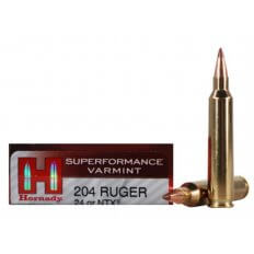 Hornady SUPERFORMANCE Varmint .204 Ruger 24 Gr. NTX- Lead-Free- Box of 20