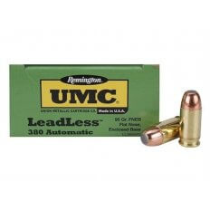 Remington UMC .380 ACP 95 Gr. Flat Nose Enclosed Base- Box of 50