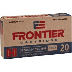Frontier Cartridge Military Grade 5.56x45mm NATO XM193 55 Gr. Hornady Full Metal Jacket Boat Tail FR202