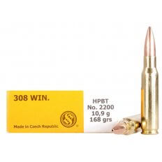 Sellier & Bellot .308 Winchester 168 Gr. Hollow Point Boat Tail- Box of 20
