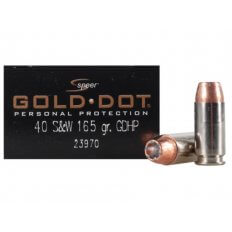 Speer Gold Dot .40 S&W 165 Gr. Jacketed Hollow Point 23970