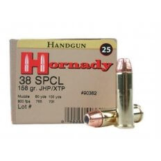 Hornady Custom .38 Special 158 Gr. XTP Jacketed Hollow Point- Box of 25