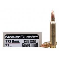 Nosler Match Grade .223 Remington 77 Gr. Custom Competition Match- Box of 20