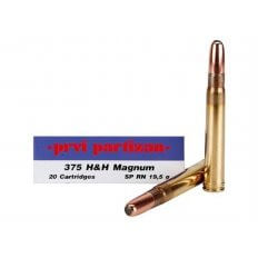 Prvi Partizan .375 H&H Magnum 300 Gr. Round Nose Soft Point- Box of 20