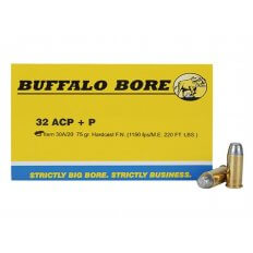 Buffalo Bore .32 ACP +P 75 Gr. Hardcast Flat Nose- Box of 20