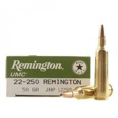 Remington UMC .22-250 Remington 50 Gr. Jacketed Hollow Point- Box of 20