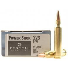 Federal Power-Shok .223 Remington 64 Gr. Jacketed Soft Point- Box of 20