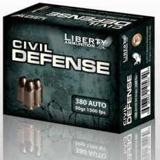 Liberty Civil Defense .380 ACP 50 Gr. Fragmenting Hollow Point- Lead-Free- Box of 20