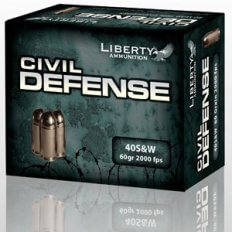 Liberty Civil Defense .40 S&W 60 Gr. Fragmenting Hollow Point- Lead-Free- Box of 20