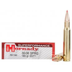Hornady SUPERFORMANCE .30-06 Springfield 180 Gr. SST- Box of 20