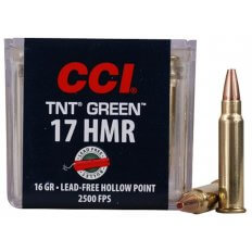 CCI .17 Hornady Magnum Rimfire (HMR) 16 Gr. Speer TNT Green Hollow Point- Lead-Free- Box of 50