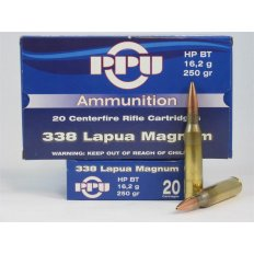 Prvi Partizan .338 Lapua Magnum 250 Gr. Hollow Point Boat Tail- Box of 20