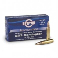Prvi Partizan .223 Remington 55 Gr. FMJ BT- Box of 20