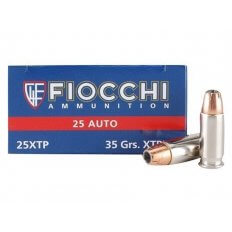 Fiocchi Extrema .25 ACP 35 Gr. Hornady XTP Jacketed Hollow Point 25XTP