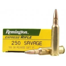 Remington Express .250 Savage 100 Gr. Pointed Soft Point- Box of 20