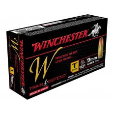 Winchester W Train Reduced Lead 9mm Luger 147 Gr. Full Metal Jacket- Box of 50