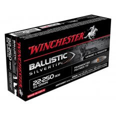 Winchester Supreme .22-250 Remington 55 Gr. Ballistic Silvertip- Box of 20