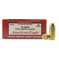 Federal American Eagle .40 S&W 180 Gr. Total Metal Jacket- Box of 50