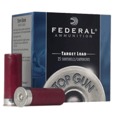 "Federal Lead Top Gun Target Load, 12 Gauge 2-3/4"" 1-1/8oz  8 Shot- Box of 25"