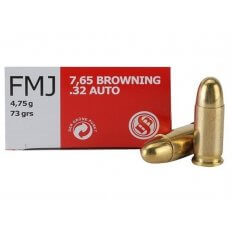 Sellier & Bellot .32 ACP 73 Gr. FMJ- Box of 50