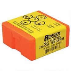 Berger Bullets .270 Caliber (277 Diameter) 150 Gr. Hunting VLD HPBT- 27503