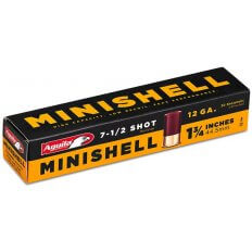 "Aguila Minishell 12 Gauge 1-3/4"" 5/8 oz #7-1/2 Shot- 1C128968"
