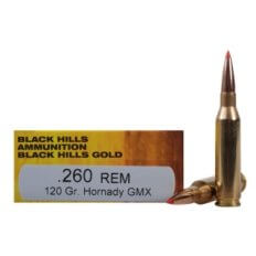 Black Hills Gold .260 Remington 120 Gr. Hornady GMX- 1C260REMBHGN2