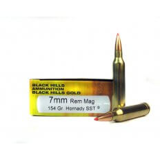 Black Hills Gold 7mm Remington Magnum 154 Gr. Hornady SST- 1C7MMRMBHGN4