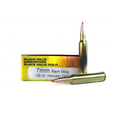 Black Hills Gold 7mm Remington Magnum 139 Gr. Hornady GMX- 1C7MMRMBHGN5