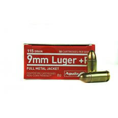Aguila 9mm Luger +P 115 Gr. Full Metal Jacket- 1E092118