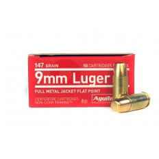 Aguila 9mm Luger 147 Gr. Full Metal Jacket- 1E097719