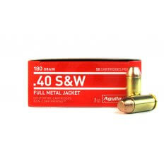 Aguila .40 S&W 180 Gr. Full Metal Jacket- 1E402110