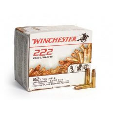 Winchester .22 Long Rifle 36 Gr. Plated Lead Hollow Point- 22LR222HP