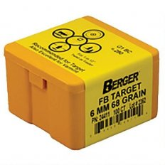 Berger Bullets .243 Caliber, 6mm (243 Diameter) 68 Gr Target Flat Base-24411