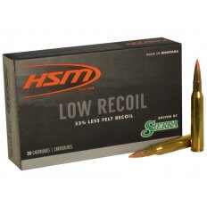 HSM Low Recoil 270 Winchester 130 Gr. Sierra Tipped Spitzer Boat Tail- -270-14-N
