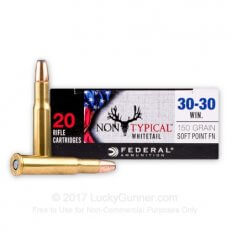 Federal Non-Typical 30-30 Winchester 150 Gr. Soft Point Round Nose- 3030DT150