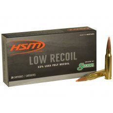 HSM Low Recoil .308 Winchester 150 Gr. Sierra Tipped Spitzer Boat Tail-308-44-N