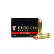 Fiocchi Shooting Dynamics .357 Magnum 125 Gr. Jacketed Hollow Point- 357D