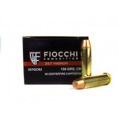 Fiocchi Shooting Dynamics .357 Magnum 158 Gr. Complete Metal Jacket Flat Point- 357GCMJ