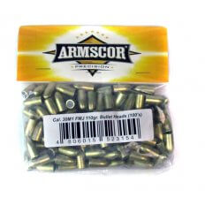 Armscor Bullets .30 Carbine (.308 Diameter) 110 Gr. Full Metal Jacket- 52315