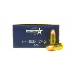 Independence 9mm Luger 124 Gr. Full Metal Jacket- 5257