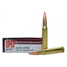Hornady SUPERFORMANCE .30-06 Springfield 165 Gr. Interbond- Box of 20 81158