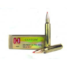 Hornady Custom .300 Remington Ultra Magnum 180 Gr. GMX Boat Tail- 8207